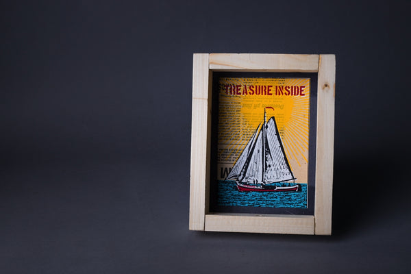 Treasure inside original print with frame S