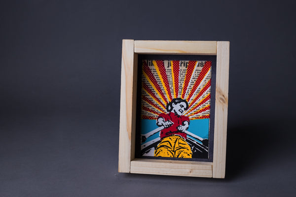 Rowing original print with frame S