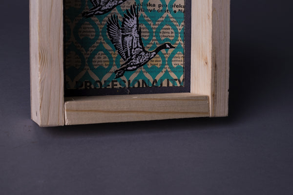Wild goose original print with frame S