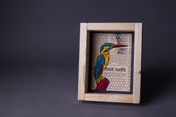 Kingfisher original print with frame S