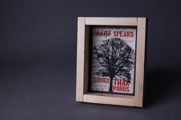Silent tree original print with frame S