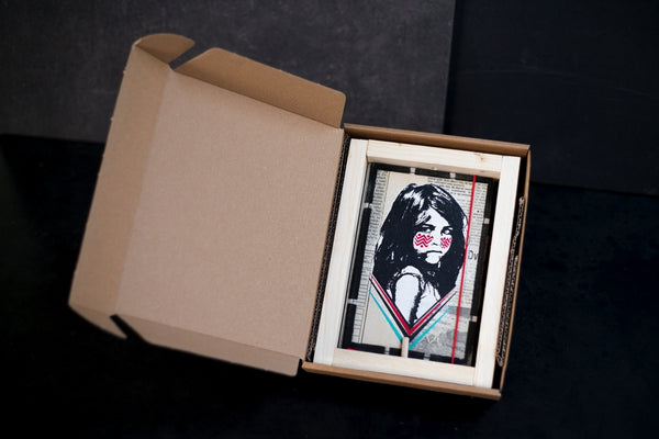 Cherokee girl - medium notebook with frame
