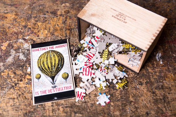 Balloon puzzle - cigar box - worldwide shipping
