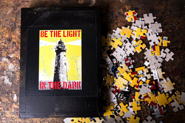 Lighthouse puzzle - cigar box - worldwide shipping