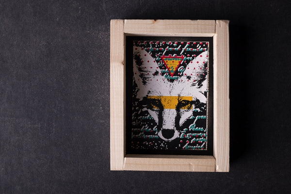 London Fox - mini notebook with frame