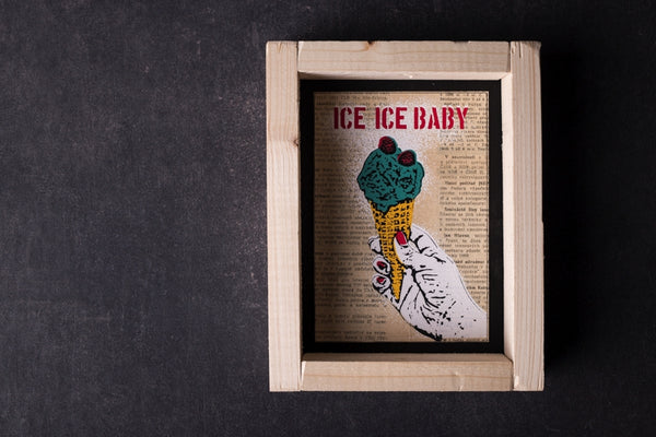 Ice Ice Baby - mini notebook with frame