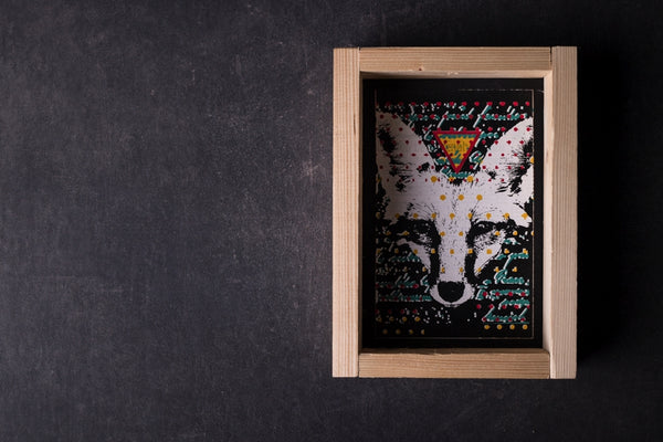 London Fox - medium notebook with frame