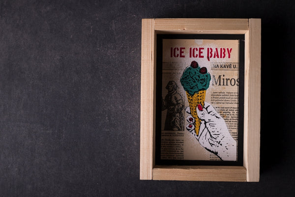 Ice Ice Baby - medium notebook with frame