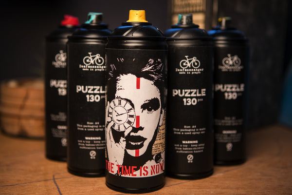 Time is now puzzle - spray can - CZ shipping only