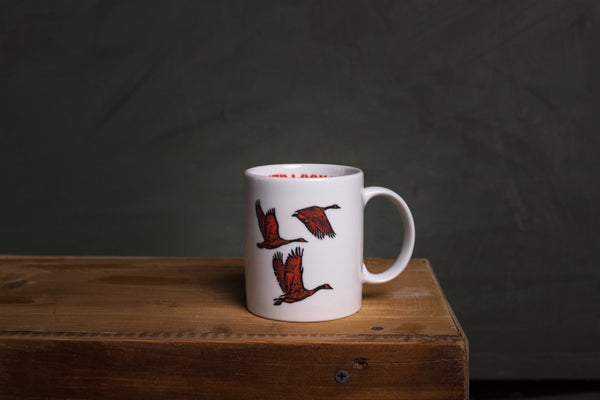 Wild Goose porcelain cup with HANDLE - L (wh)