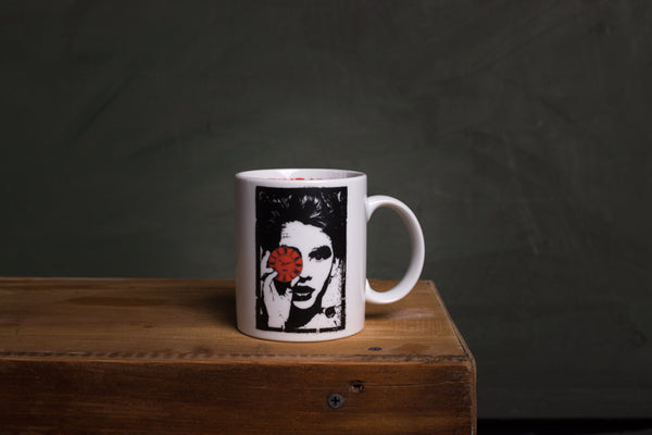 Time is now porcelain cup with HANDLE - L (wh)