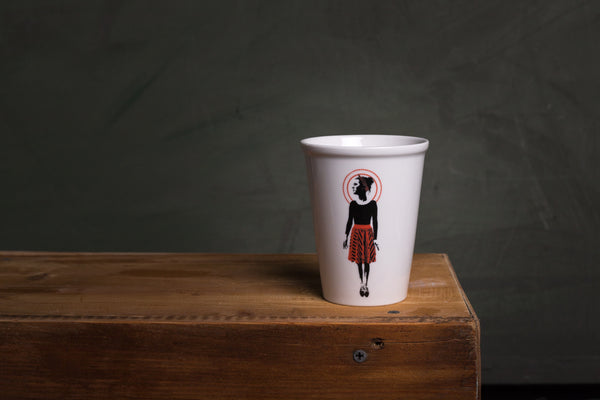 Karl porcelain cup TO GO - L