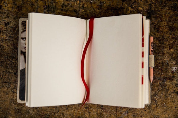 Blank cover MINI notebook - polar white