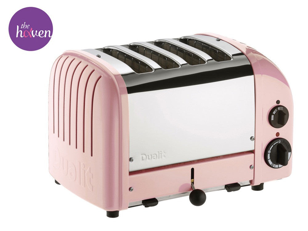 Four-Slice NewGen Petal Pink Toaster by Dualit - Thepinkstore.com