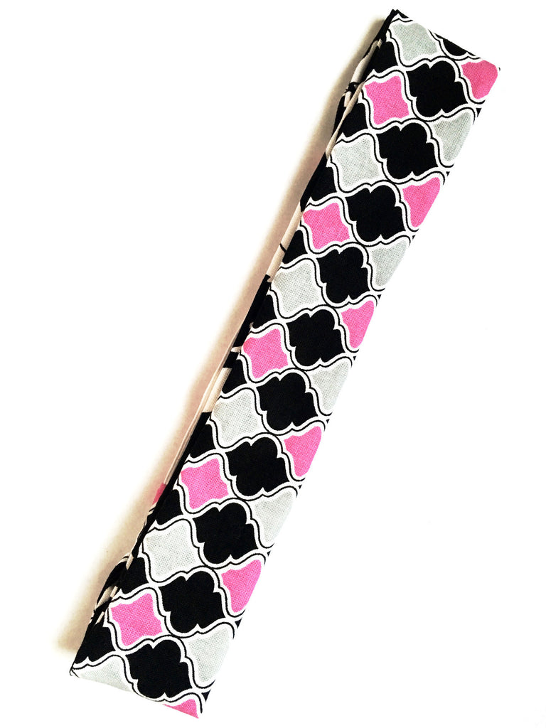 Diamonds & Damask Reversible Headband - Thepinkstore.com - 2