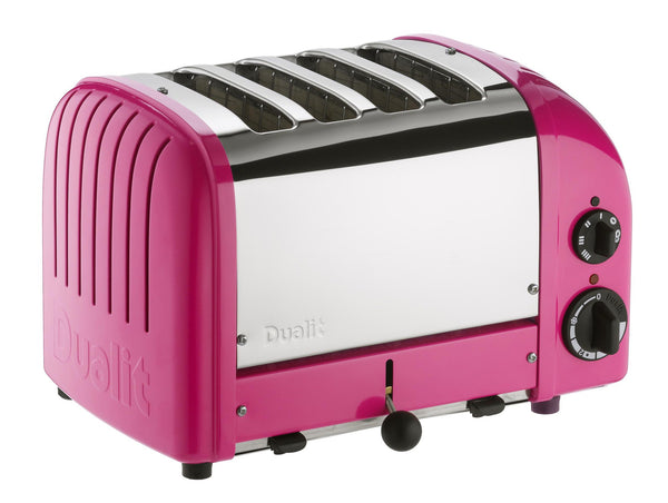 Four-Slice NewGen Chilli Pink Toaster by Dualit - Thepinkstore.com