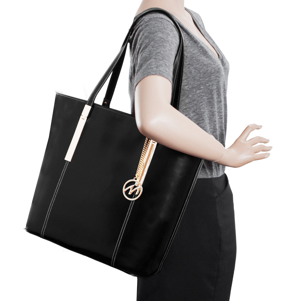 The Cristina Leather Shoulder Tote - Thepinkstore.com - 9