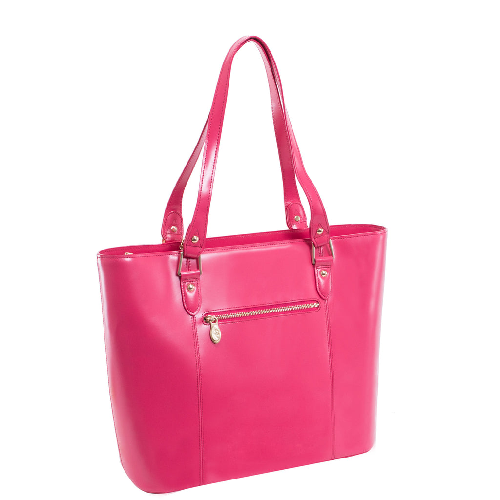 The Savarna Leather Shoulder Tote - Thepinkstore.com - 4