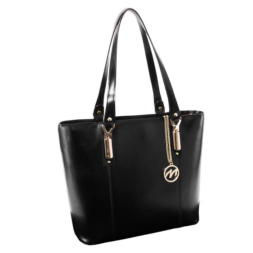 The Savarna Leather Shoulder Tote - Thepinkstore.com - 5