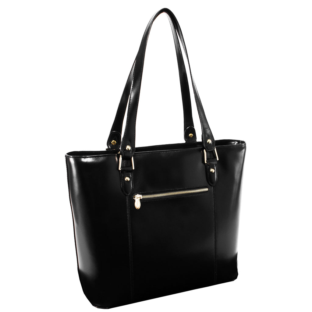 The Savarna Leather Shoulder Tote - Thepinkstore.com - 7