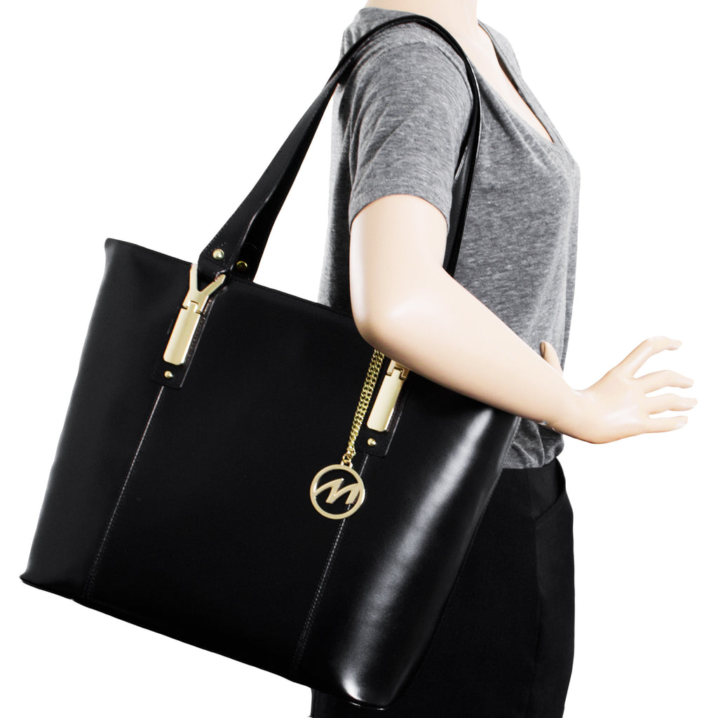 The Savarna Leather Shoulder Tote - Thepinkstore.com - 8
