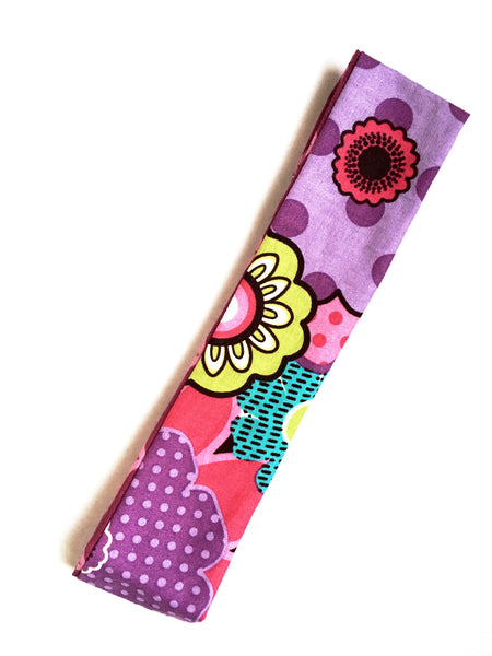 Flower Power Reversible Headband - Thepinkstore.com - 1