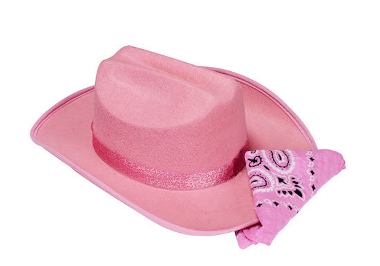 Jr Cowboy Hat with Sparkle Ribbon & Bandana