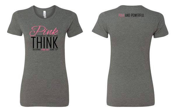 National Pink Day T-Shirt - Deep Heather - Thepinkstore.com