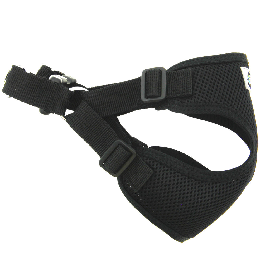 Wrap & Snap Choke Free Dog Harness in Black - Thepinkstore.com - 2