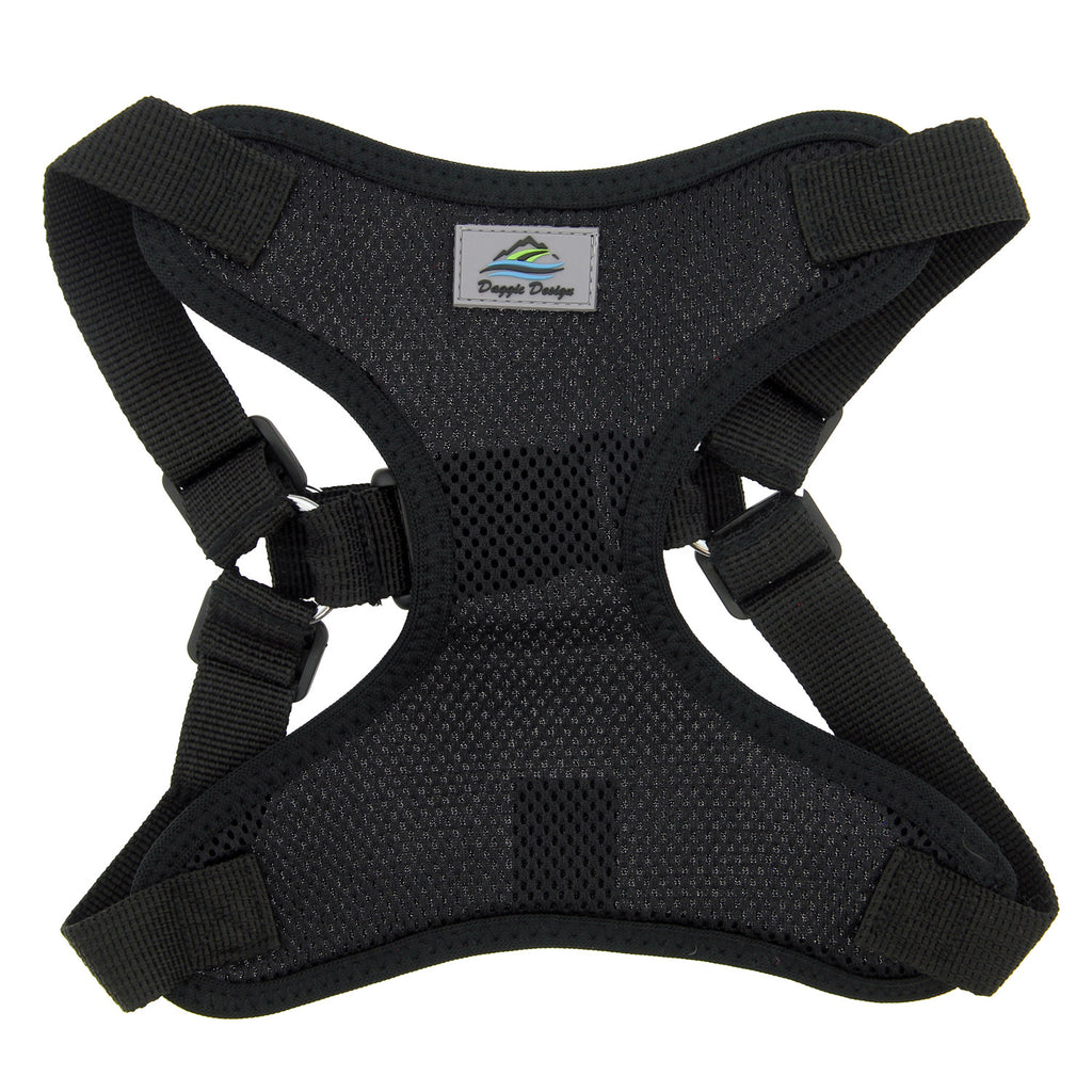 Wrap & Snap Choke Free Dog Harness in Black - Thepinkstore.com - 3