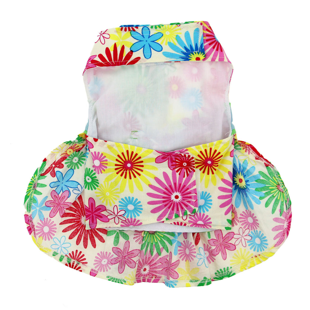 Tuscany Flower Print Dog Dress with Matching Leash - Thepinkstore.com - 3