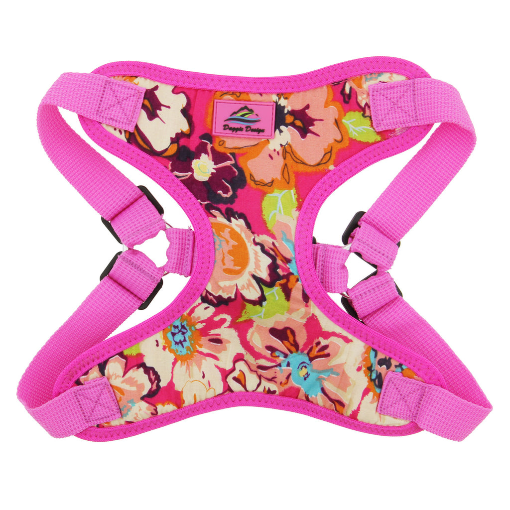 Wrap & Snap Choke Free Dog Harness in Aruba Raspberry - Thepinkstore.com - 2