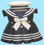 Girl Toddler Christening Baptism sailor Dress Gown outfit/# S/M/L/XL /3-6M/6-12M/12-18M/18-24M/SMALL/MEDIUM/LARGE/XL/42blue - myfamilystore