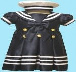 Girl Toddler Christening Baptism sailor Dress Gown outfit/# S/M/L/XL /3-6M/6-12M/12-18M/18-24M/SMALL/MEDIUM/LARGE/XL/43blue - myfamilystore