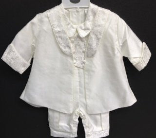 Baby Boy toddler Christening Baptism white outfit with hat /XS/S/M/L/XL/0-3M/3-6M/6-12M/12-18M/18-24M/XSMALL/SMALL/MEDIUM/LARGE/X LARGE/c2 - myfamilystore
