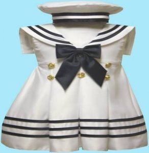 Girl Toddler Christening Baptism sailor Dress Gown outfit/# S/M/L/XL /3-6M/6-12M/12-18M/18-24M/SMALL/MEDIUM/LARGE/XL/42white - myfamilystore