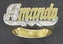 10k gold any Name Rings Personalized Jewelry /gifts/b3 - myfamilystore