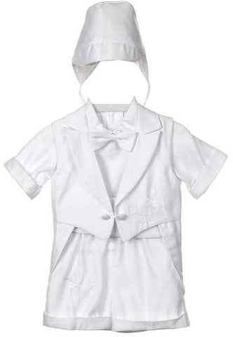 Baby Boy toddler Christening Baptism white outfit with hat /XS/S/M/L/XL/0-3M/3-6M/6-12M/12-18M/18-24M/XSMALL/SMALL/MEDIUM/LARGE/X LARGE/b15 - myfamilystore