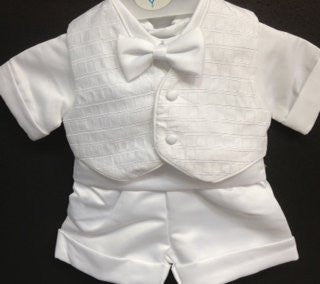 Baby Boy toddler Christening Baptism white outfit with hat /XS/S/M/L/XL/0-3M/3-6M/6-12M/12-18M/18-24M/XSMALL/SMALL/MEDIUM/LARGE/X LARGE/c8 - myfamilystore