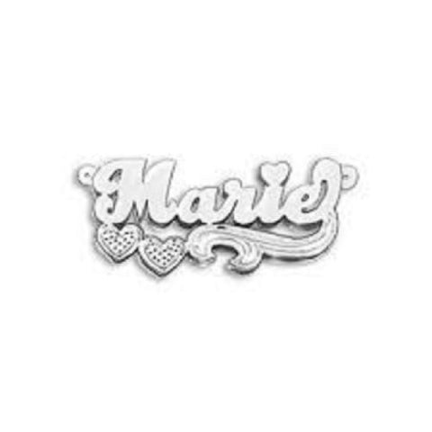 Personalized Silver 925 Any Name Plate Necklace/birthday Christening Gift/s3 - myfamilystore