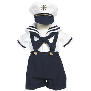 Toddler Baby Boy Tuxedo suit Sailor captain Christening Baptism wedding/SMALL/MEDIUM/LARGE/EXTRA LARGE/3-6 m/6-12 M/12-18 M/18-24-M/S/M/L/XL/2T/3T/4T/#2044 navy - myfamilystore