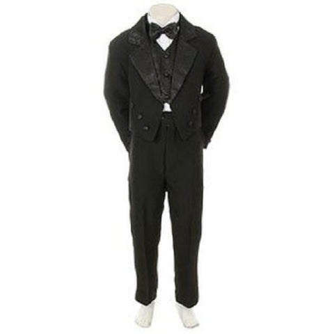 Baby Black Tail Tuxedo Suit Wedding/small/medium/large/xlarge//2t/3t/4t/#tail Bowtie - myfamilystore