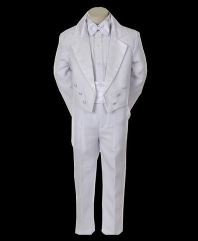 Toddler Baby Boy white bowtie tail Tuxedo suit Christening Baptism wedding/ size 2t/3t/4t /#r1 - myfamilystore