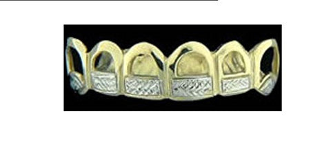 14k gold overlay removable Gold Teeth Grillz Griils caps including the mold kit and shipping 6 teeth /m9 - myfamilystore