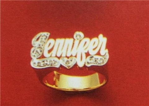 14k gold overly  any Name Rings letters personalized jewelry/gifts/a8 - myfamilystore