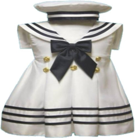 Baby-girls Flower Girl Christening Sailor Dress Outfit Sizes S-xl /#42 White - myfamilystore
