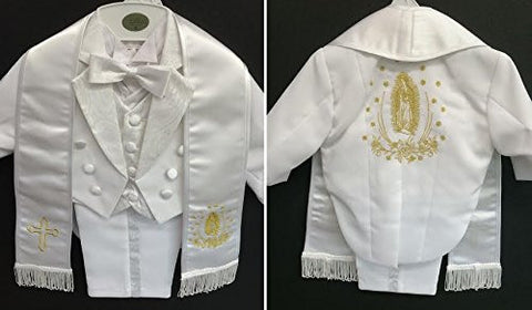 Baby Boy toddler Christening Baptism white outfit with hat /XS/S/M/L/XL/0-3M/3-6M/6-12M/12-18M/18-24M/XSMALL/SMALL/MEDIUM/LARGE/X LARGE/gold cross - myfamilystore