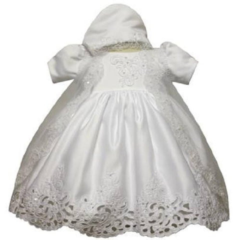 Baby Girl Christening Dress Gowns Outfit Bonnet Size /Small/medium/large/xl/2t/#5423 - myfamilystore