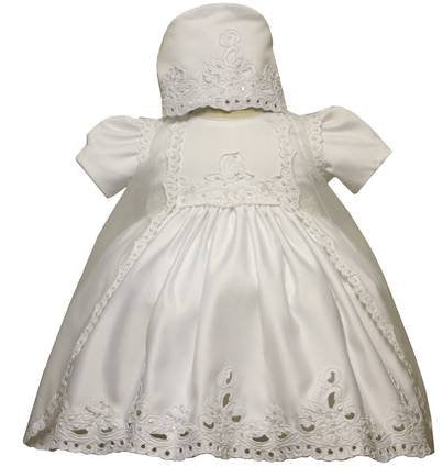 Baby Girl Toddler Christening Baptism Dress Gowns outfit set with bonnet /XS/S/M/L/XL/0-3M/3-6M/6-12M/12-18M/18-24M/XSMALL/SMALL/MEDIUM/LARGE/XL/2t/#5426 - myfamilystore