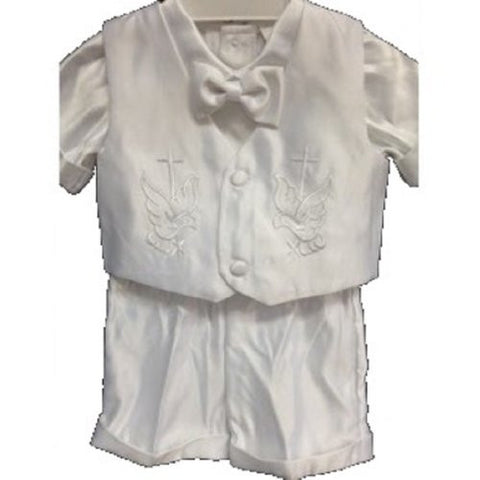 Baby Boy Toddler Christening Baptism White Outfit with Hat/xs to xl/cg - myfamilystore